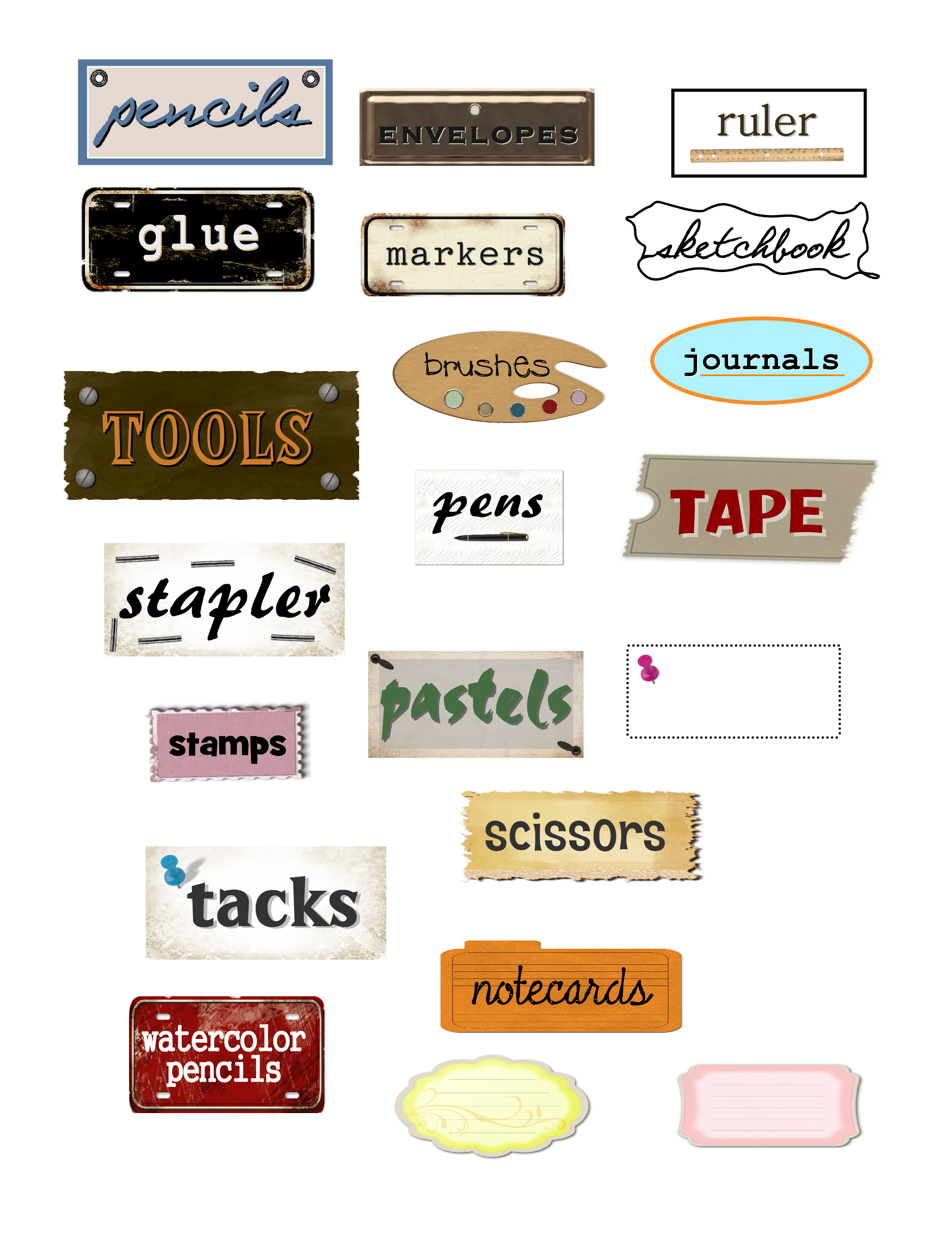 Organization Office Labels | elineuponline.com